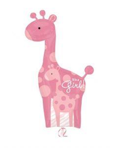 """Balon folie girafa """"It's a girl"""", cod 25181"""