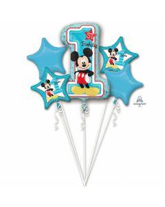 Buchet baloane folie Mickey Mouse, cod 34341