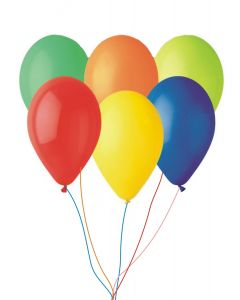 Buchet 5 baloane neinscriptionate din latex cu heliu, cod BLA03