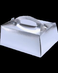 Cutie Prajitura 12*16*7 cm argintie, cod CUM11