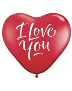"Baloane latex Inima ""I love you"" 25 cm 10 buc, cod ACRI.LOV"