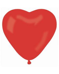 Baloane latex inima rosie 30 cm 10 buc, cod A12.INIMA.ROSU