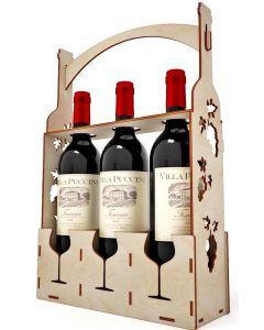 Suport 3 sticle vin, cod LTAV01