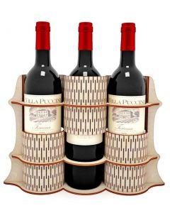 Suport 3 sticle vin, cod LTAV08