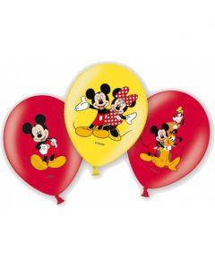 Baloane latex Mickey Mouse 28 cm 6 buc, cod 999240