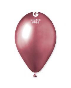 Baloane latex roz lucioase 33 cm 10 buc, cod 120.91